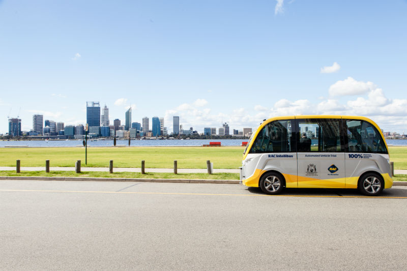 RAC Intellibus at South Perth foreshore