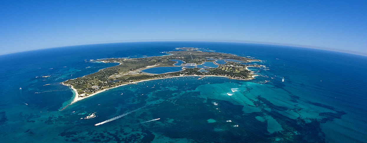 Rottnest Island view from the sky.